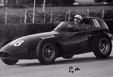 Stirling Moss signé 12x8 Vanderwell Ltd GA 4 British GP Aintree 1957