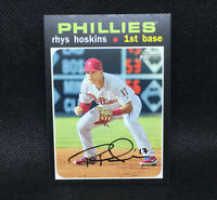SP! 🚨Rhys Hoskins 2020 Topps Heritage High Number #490 Philadelphia Phillies
