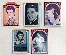 5 ELVIS PRESLEY BOXCAR TRADING CARDS 1978