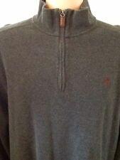 Polo By Ralph Lauren 1/4 Zip Long Sleeve Knit Pullover Men's Size XXL Dark Gray