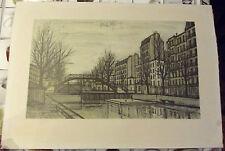Ancienne Lithographie BERNARD BUFFET 1956  reproduction    71 x 51 cm