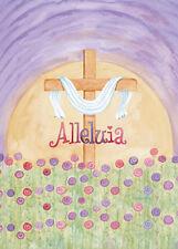 "Religious Inspirational Easter Mini Garden Flag ""Alleluia"""