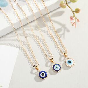 Nazar Halskette mit Anhänger Böses Blaue Auge Glücksbringer Boncuk Türkisch Gold
