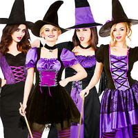 Alluring Witches Ladies Fancy Dress Halloween Womens Adults Costume Witch Outfit