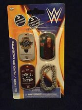 NIP WWE Daniel Bryan Roman Reigns Sheamus 3 I.D. Dog Tags Wrestling 2014