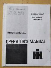 International 244 And 254 Tractors Operators Manual