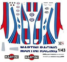 #6 Martini MS Lancia LC2 1/43rd Scale Slot Car Waterslide Decals