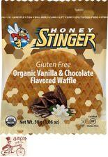 HONEY STINGER GLUTEN FREE ORGANIC WAFFLE--VANILLA AND CHOCOLATE--BOX OF 16