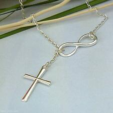 Charming Chic Jewelry Silver Crucifix Alloy Pendant Women Lady Chain Necklace