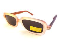 Ladies Womens Retro Brown Rectangular CE Grey Tint Lens Sunglasses UV400 S2