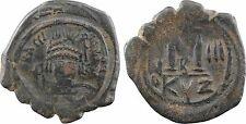 Emp. Byzantin, Héraclius, follis, An 3 Cyzique, officine B, CYZ - 16