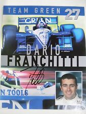 "VINTAGE HAND SIGNED DARIO FRANCHITI  8"" BY 10"" COLOR HERO CARD TEAM GEEN"