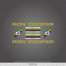 Black Decals 0810 Ron Cooper Bicycle Stickers Transfers