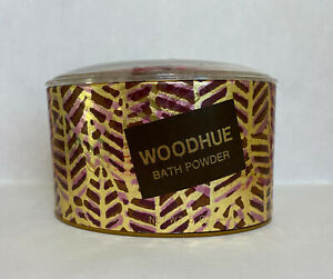 Vintage Faberge WOODHUE 5 Oz Bath Body Powder with Powder Puff Unused