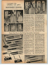 1961 PAPER AD Zippo Cigarette Lighter Golf Sports Town & Country Table Moderne