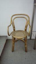 Poltroncina legno curvato seduta paglia Vienna modernariato 70/80