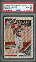Damian Lillard 2019 Panini Donruss Optic Fanatics Basketball Card #7 PSA 10