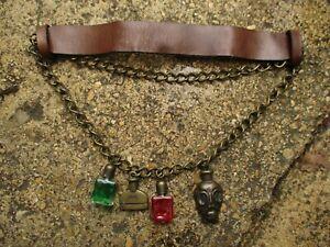 belt accessories ALEXANDER MCQUEEN rare mainline collection uni-sex