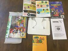 Nintendo 64 Mario Cart 64 Box, Manual, Insert, Operation Card, Poster, Leaflet