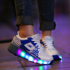 New Kids Flash Jazzy Junior Girls Boys Light Roller Heelys Skate LED Shoes Size