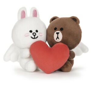 GUND Line Friends Brown And Cony Cupid Love 4 inch plush