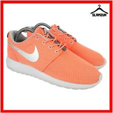 Nike Roshe One Womens Running Mesh Trainers UK 4.5 / 38 Orange Flywire Sneakers