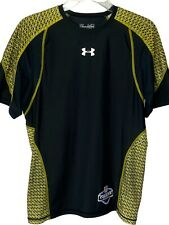 Under Armour Heat Gear Fitted mens medium shirt black yellow NFL Combine