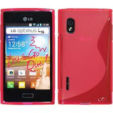 Silicone Case LG Optimus L5 S-Style hot pink + protective foils
