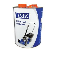 Victa 5L FUEL CONTAINER Suitable For 2-Stroke & 4-Stroke Fuel, Recyclable Steel