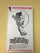 Panther Productions Vhs Pro Wresteling Finishing Holds Vol 1 Martial Training