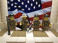 4x WWII LEGO U.S. 517th Airborne France August 1944 w/ M1 Garand & MP