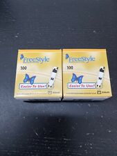 200 Freestyle Diabetic test strips. Excellent, Brand New Boxes!