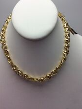 $38 Anne Klein Gold Tone Polished Knot Collar Necklace #816