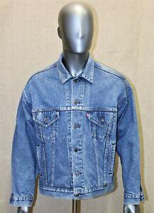 LEVIS denim trucker jacket vintage années 80 taille L made in USA