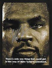 Mike Tyson Signed Original Evander Holyfield 1996 Las Vegas Fight Promo BAS COA