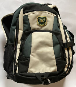 US Forest Service Dept of Agriculture Black & Green Backpack Very Neat Look!