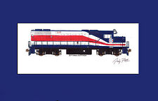 "Long Island Rail Road GP38-2 11""x17"" Matted Print Andy Fletcher signed"