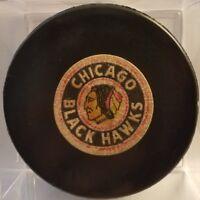 Vintage 1969-76 Chicago Black Hawks Converse Art Ross CCM Game Puck RUBBER  USA
