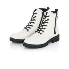 Ladies Remonte Boots White Chunky Military Style D8671-80