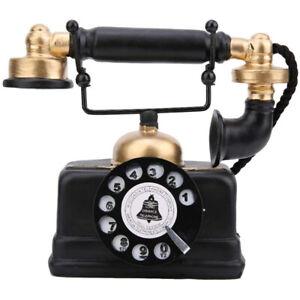 Festnetz Telefon Vintage Retro Antik Telefon Kabelgebundene Desk Dekor Ornament