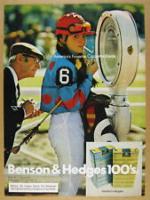 1973 female Jockey on Toledo Scale photo Benson & Hedges Cigarettes vintage Ad