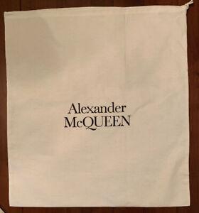 """New Alexander McQueen 22"""" X 24"""" Cotton Drawstring Dust Travel Storage Bag"""