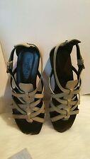 Women's Shoes Sandals HOGAN Valencia Sandal Ankle Strap Aof Ebony Leather