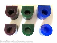 GREEN + PURPLE + BLUE CARVING WAX RING TUBE JEWELLERY LOST WAX CASTING PACK OF 6