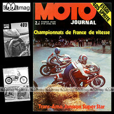 MOTO JOURNAL N°97 SPRITE 405 GUZZI V7 YAMAHA TZ 350 HONDA DAX SUZUKI GT 750 1972