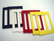 Picture Frame Mat 3.5x5 for 2.5x3.5 photo set of eight red blue white yellow