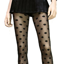 FASHION FUN AND SEXY WOVEN POLKA DOT SHEER BLACK TIGHTS PANTYHOSE