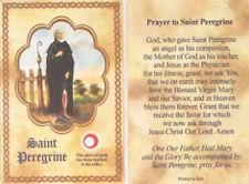 Saint Peregrine Relic Card and Devotional Prayer