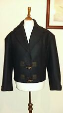 TOMMY HILFIGER COLLECTION NIKKI CROPPED TOG WOOL PEACOAT Navy Size 14  £490