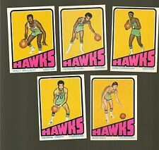 1972 Topps Basketball Set ATLANTA HAWKS Near Team Set Lot WALT BELLAMY
